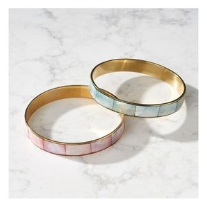 Shell inlay bangle set